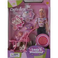 Кукла с коляской Defa Lucy 20958