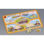 Пазл деревянный Транспорт Hongji Toys HJ98052