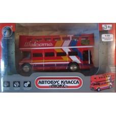 Машинка металлическая Автобус класса Люкс Panawealth 984263R-12200