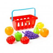 Набор продуктов с корзинкой №2 (9 элементов) (в сеточке) Полесье 46963