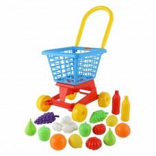 """Тележка """"Супермаркет"""" №1 + набор продуктов (в сеточке) Полесье 42989"""
