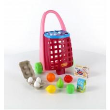 Забавная тележка + набор продуктов (11 элементов) Полесье 67944