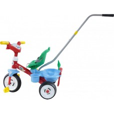 """Детский велосипед трехколесный """"Беби Трайк"""" с ручкой, звуковым сигналом и ремешком + набор (2 элемента) Полесье 46741"""