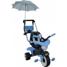 """Детский велосипед трехколесный """"Амиго №2"""" с ограждением, клаксоном, ручкой, ремешком, мягким сиденьем, сумкой и зонтиком Полесье 46925"""