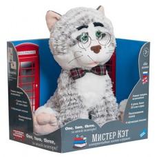 Мягкая интерактивная игрушка Мистер Кот, обучающий английскому, распознает голос