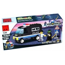 Конструктор Брик Полицейская серия Police Series Escorting Police Truck BRICK 126