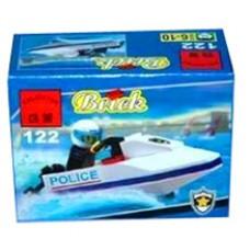 Конструктор Брик Полицейская серия Police Series Police Motorboat BRICK 122