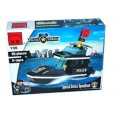 Конструктор Брик Полицейская серия Police Series Special Duties Speedboat BRICK 130