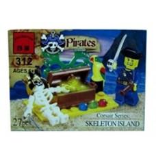 Конструктор Брик серия Пираты Pirates Series Skeleton Island BRICK 312