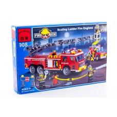 Конструктор Брик Серия Пожарные спасатели Fire Rescue Scarling ladder fire engines BRICK 908