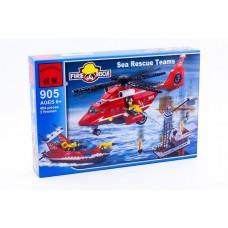 Конструктор Брик Серия Пожарные спасатели Fire Rescue Sea rescue teams BRICK 905