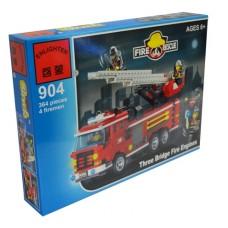Конструктор Брик Серия Пожарные спасатели Fire Rescue Three bridge fire engines BRICK 904