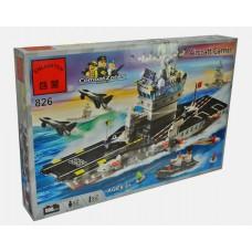 Конструктор Брик Серия Зона боевых действий Combat Zones Series Aircraft carrier BRICK 826