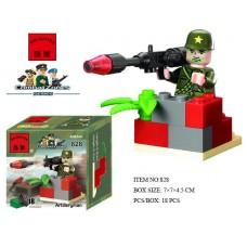 Конструктор Брик Серия Зона боевых действий Combat Zones Series Artillerman BRICK 828