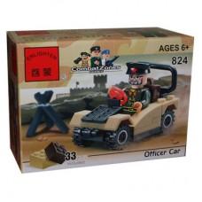 Конструктор Брик Серия Зона боевых действий Военная машина Combat Zones Series Officer Car BRICK 824
