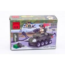 Конструктор Брик Серия Зона боевых действий Военный мотоцикл Combat Zones Series Small Tanks BRICK 805