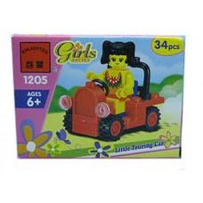 Конструктор для девочек Маленький туристический автомобиль Brick 1205