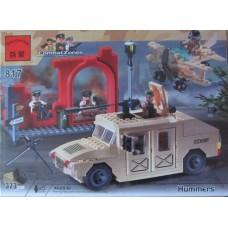 Конструктор Военный джип хаммер Brick 817