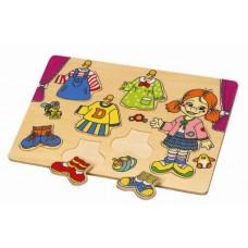 Пазл деревянный Гардероб Hongji Toys HJ98206