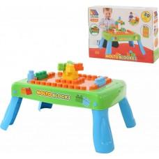 Игровой набор с конструктором (20 элементов) в коробке (зелёный) с элементом вращения Полесье 57990