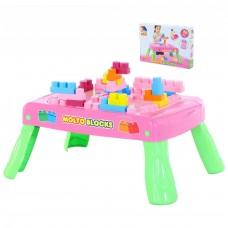 Игровой набор с конструктором (20 элементов) в коробке (розовый) Полесье 58003