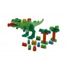 """Игровой набор """"Динозавр"""" + конструктор (30 элементов) (в коробке) Полесье 67807"""