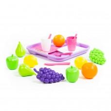 Набор продуктов №2 с посудкой и подносом (21 элемент) (в сеточке) Полесье 46970