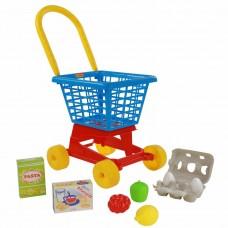 """Тележка """"Супермаркет"""" №1 + набор продуктов №2 (в сеточке) Полесье 67890"""